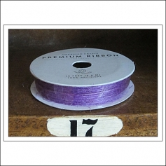 American Crafts Premium Ribbon Spool Jute Purple