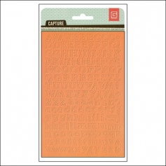 Basic Grey Alphabet Stickers Orange Capture Collection