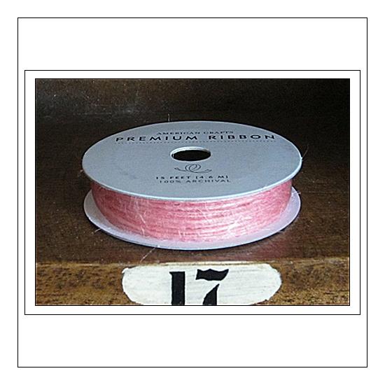 American Crafts Premium Ribbon Spool Jute Baby Pink