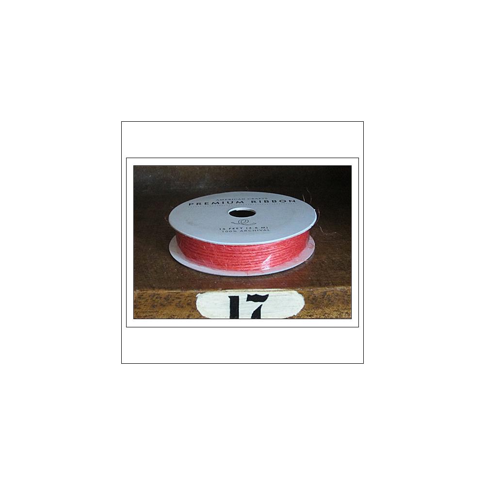American Crafts Premium Ribbon Spool Jute Orange