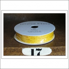 American Crafts Premium Ribbon Spool Jute Yellow