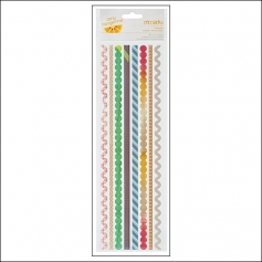 American Crafts Remarks Trimmed Epoxy Stickers Cut and Paste Collection by Amy Tangerine
