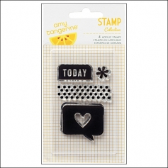 American Crafts Clear Stamps Today Cut and Paste Collection by Amy Tangerine
