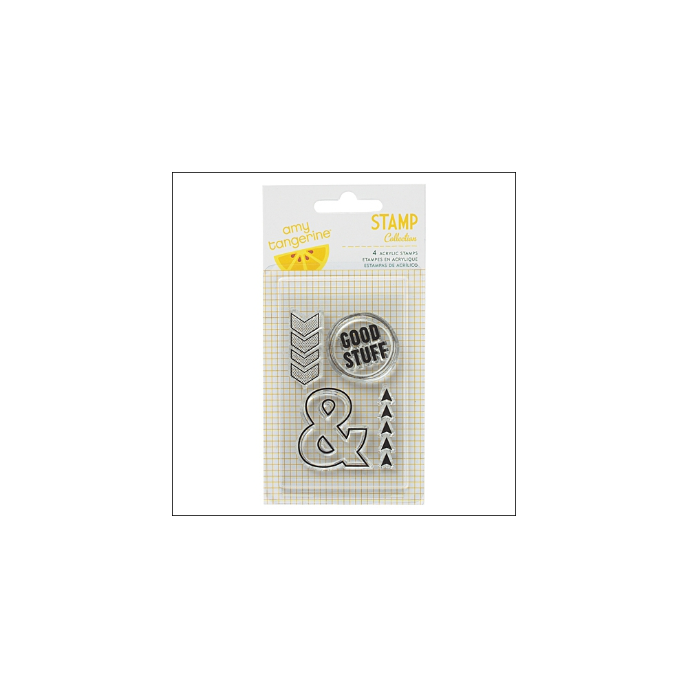 American Crafts Clear Stamps Good Stuff Cut and Paste Collection by Amy Tangerine
