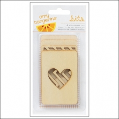 American Crafts Bits Wood Veneer Tags Cut and Paste Collection by Amy Tangerine