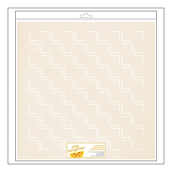 American Crafts Die Cut Paper Sheet File and Fold Cut and Paste Collection by Amy Tangerine