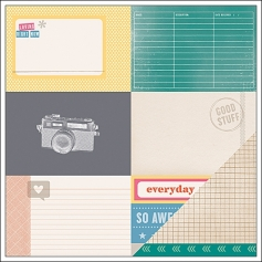 American Crafts Paper Sheet Awesome Sauce Cut and Paste Collection by Amy Tangerine