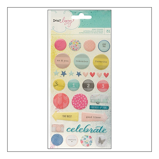 American Crafts Epoxy Stickers Polka Dot Party by Dear Lizzy