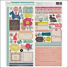American Crafts Accent and Phrase Stickers Polka Dot Party by Dear Lizzy
