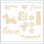 American Crafts Wood Veneer Shapes Icons and Phrases Polka Dot Party by Dear Lizzy