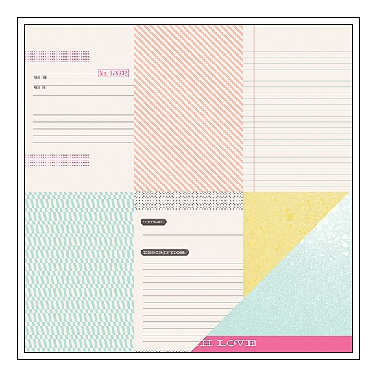 American Crafts Paper Sheet Clever Card Polka Dot Party Collection by Dear Lizzy