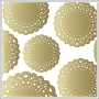 Crate Paper Vellum Paper Gold Doilies Flea Market Collection by Maggie Holmes