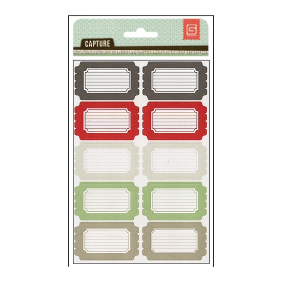 Basic Grey Label Stickers...