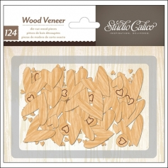 Studio Calico Wood Veneer Hearts Printshop Collection