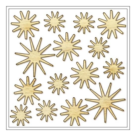 Studio Calico Wood Veneer Stars Magical Collection