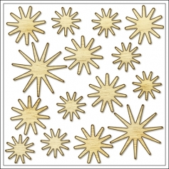 Studio Calico Wood Veneer Stars Magical Collection
