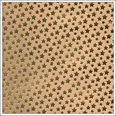 Studio Calico Kraft Paper Sheet Gold Stars Merrymint Magical Collection