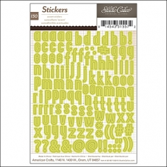 Studio Calico Accent Stickers Alphabet Green Magical Collection