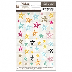 Studio Calico Vellum Accent Stickers Stars Printshop Collection