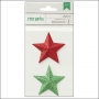 American Crafts Remarks Dimensional Paper Stars Jinglemint Peppermint Express Collection