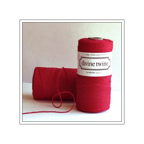 Whisker Graphics Divine Twine Solid Red