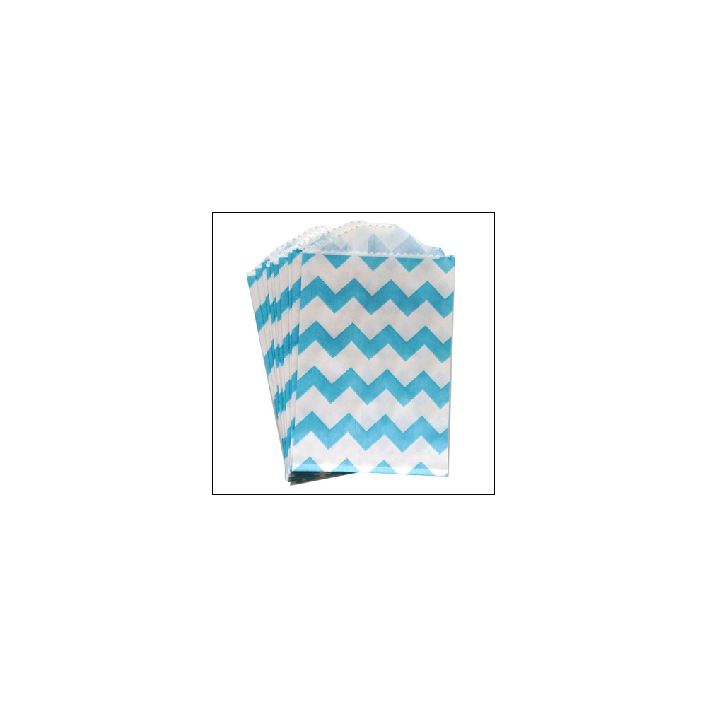 Whisker Graphics Little Bitty Bag Chevron Aqua