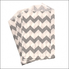Whisker Graphics Little Bitty Bag Chevron Gray