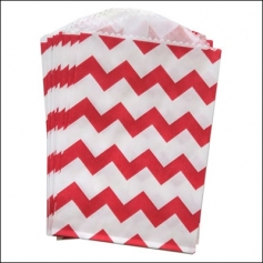 Whisker Graphics Little Bitty Bag Chevron Red