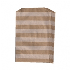 Whisker Graphics Middy Bitty Bag White Horizontal Stripes