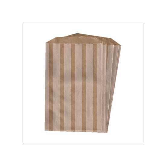 Whisker Graphics Middy Bitty Bag White Vertical Stripes
