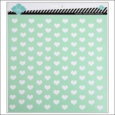 Heidi Swapp Stencil Tiny Hearts 12x12