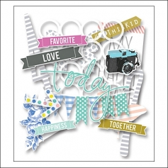 Heidi Swapp Mixed Company Ephemera Die Cuts