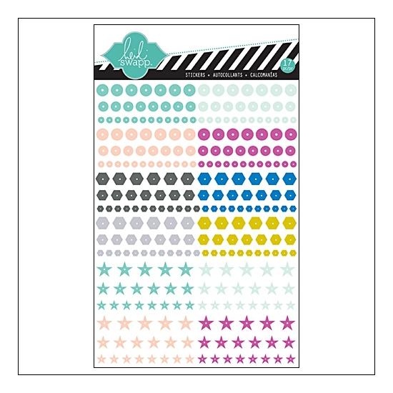 Heidi Swapp Mixed Company Confetti Rub Ons