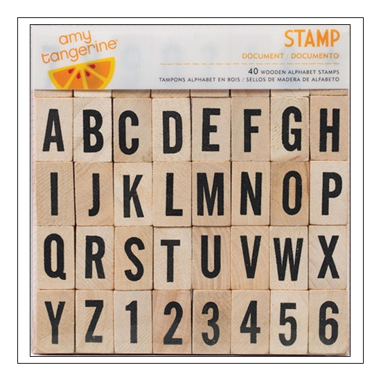 American Crafts Wooden Uppercase Alphabet Stamp Set Document Yes Please Collection by Amy Tangerine
