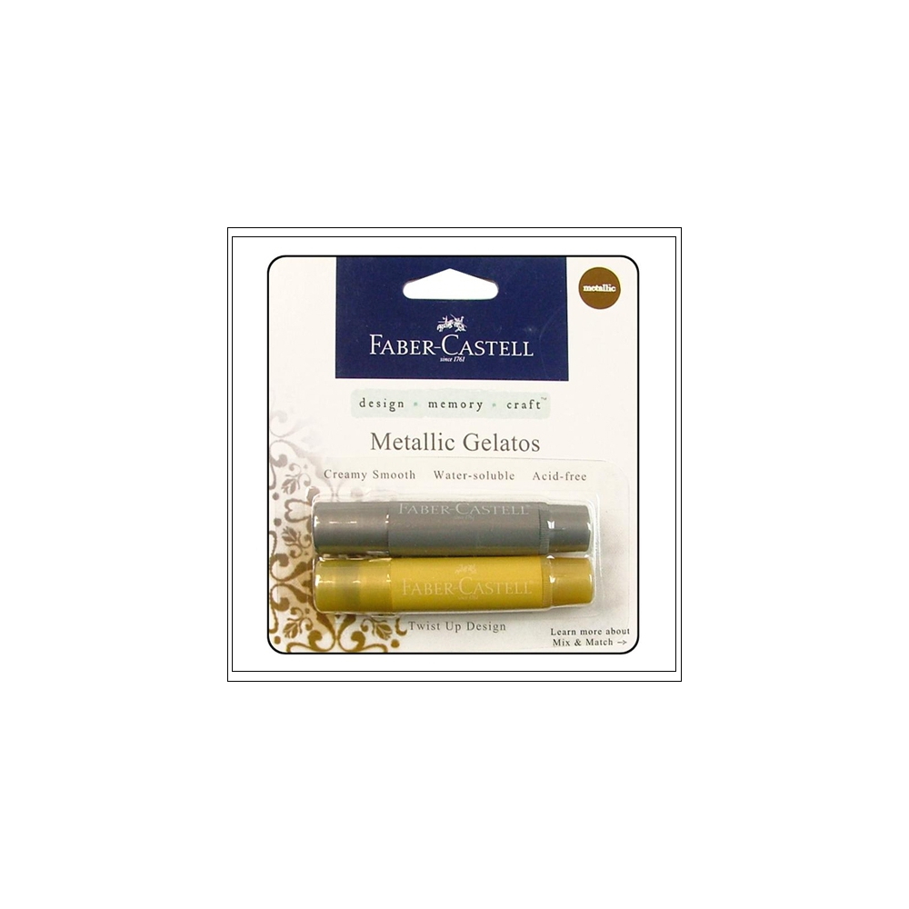 Faber Castell Mix and Match Gelatos Metallic Gold and Silver