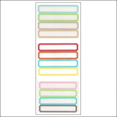 Martha Stewart Home Office Label Stickers Mixed Colors