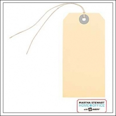 Martha Stewart Home Office Large Manila Tags