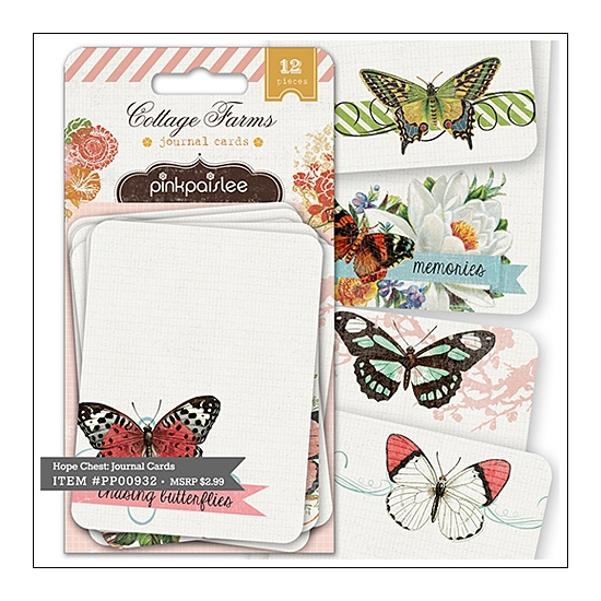 Pink Paislee Journal Cards Cottage Farms Collection