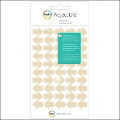 American Crafts Project Life Arrow Stickers Tan by Becky Higgins
