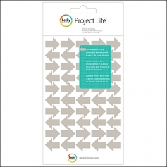 American Crafts Project Life Arrow Stickers Gray by Becky Higgins