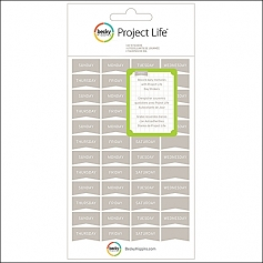 American Crafts Project Life Day Stickers Gray by Becky Higgins