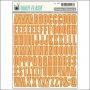 October Afternoon Shop Front Alphabet Stickers Orange Soda Daily Flash Collection