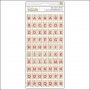 American Crafts Thicker Stickers Chipboard Doily Bundled Up Collection