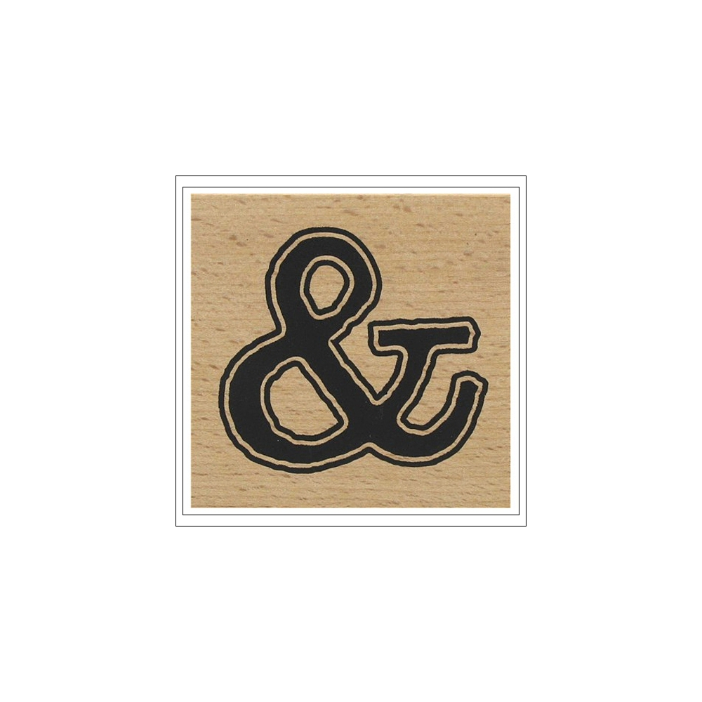American Crafts Wood Mounted Stamp Ampersand Bold
