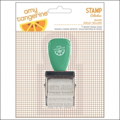 American Crafts Rotary Phrase Stamp Sealed Cut and Paste Collection by Amy Tangerine