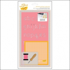 American Crafts Embroidery Stencil Kit Right Now Cut and Paste Collection by Amy Tangerine