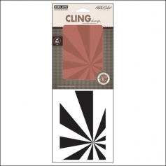 Studio Calico Cling Stamp Starburst Background