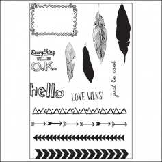 Studio Calico Clear Stamps Frame and Feathers Sundrifter Collection