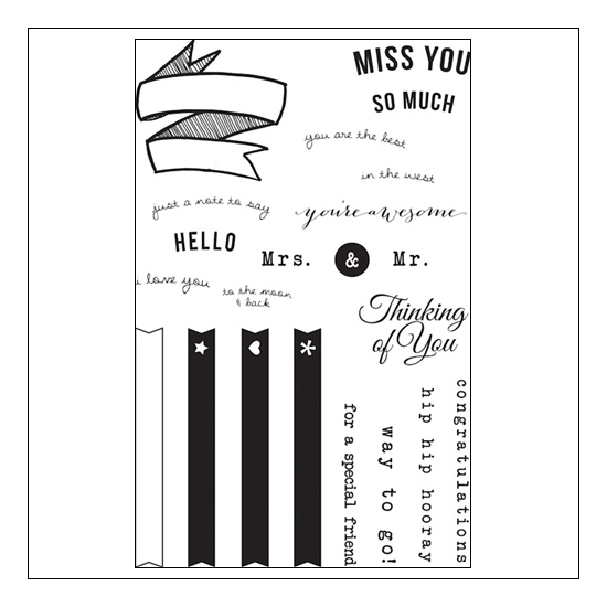 Studio Calico Clear Stamps Miss You So Much Snippets Collection