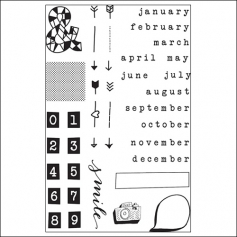 Studio Calico Clear Stamps Months Snippets Collection